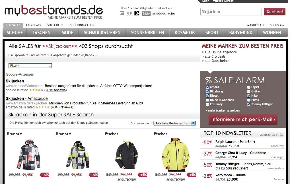 mybestbrands.de | Skijacken Sale